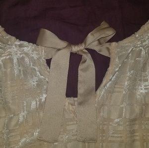 Dana Buchman Tops - Lauren Conrad Cream Blouse w/ ribbon tie